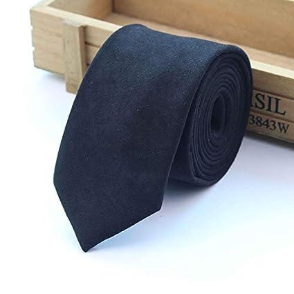 e98ea4eb32f4 Amazon.com : Graven New Fashion Solid Micro Suede Ties Groom Leather Necktie  Mens Plaid Soft Cravat for Men Butterfly Gravata Male Wedding Tie - (Color:  1) ...