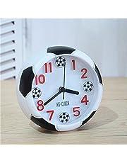 VOSAREA Football Shape Alarm Clock Cute Student Soccer Desktop Alarm Clock (No Battery)