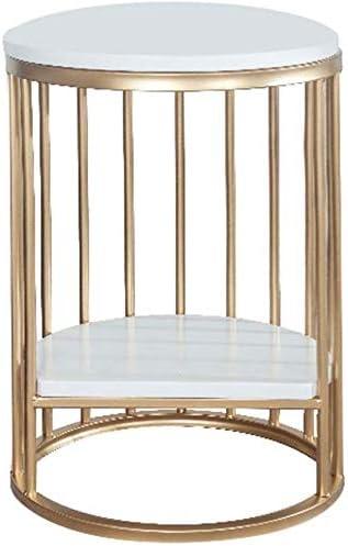 YZjk Nan Liang Furniture - Mesa Auxiliar Redonda, Metal, mármol ...