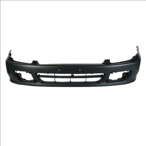 CarPartsDepot Front Bumper Cover Assembly Primed Black w/Signal Lamp Hole, 352-20737-10-PM HO1000176 04711S30A90ZZ
