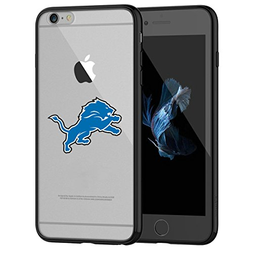 Lions iPhone 6s Tough Case, Shock Absorption TPU + Translucent Frosted Anti-Scratch Hard Backplate Back Cover for iPhone 6 / 6s - Black