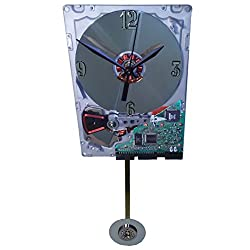 ON SALE 10% Off. Hard Drive Pendulum Clock, Early 1980s. Pendulum a Laptop Disk Platter. From IBM pc of the 1980s. Historical Gadget.