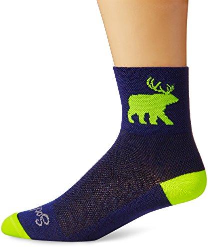 SockGuy Men's Bear Me Sock, Blue, S-M/5-9 - Stores Me Bear