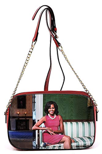 multi Glossy Clutch Satchel Cover Body Bag Michelle Obama Od2 Cross Red Collage Magazine Bag Shoulder FXrfOFwxq