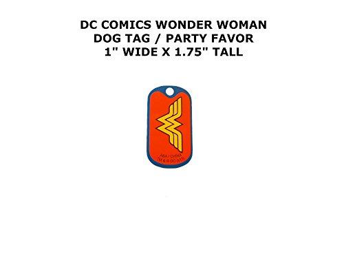Kingdom Come Superman Costume (Wonder Woman DC Comics Cartoon Theme Logo Dog Tag Keychain Party Favor)