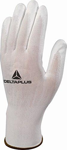 Delta Plus Gants High Tech–Gant Tricot Polyamide Palma PU blanc taille 10