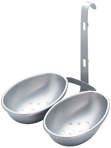 KitchenCraft Non-Stick Double Egg Poacher Cup SILVER