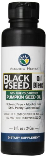 Amazing Herbs Black Seed and Pumpkin Seed Oil Blend, 8 Fluid Ounce by Amazing Herbs
