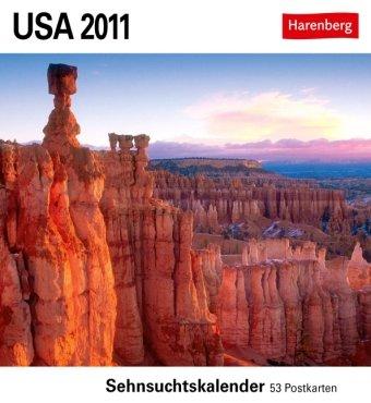 USA 2011: Sehnsuchts-Kalender. 53 heraustrennbare Farbpostkarten