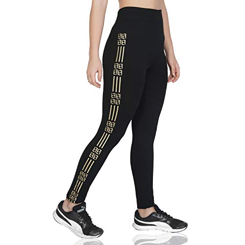 U.S. CROWN Women's Stretchable Yoga Pant Gym Legging Tights (Waist: 22″ to 32″ Length: 35″)