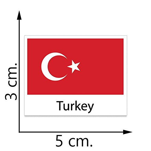 Nice Turkey Flag Temporary Tattoos Sticker Body Tattoo free shipping