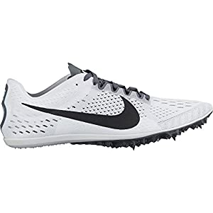 Nike Men's Zoom Victory 3 Track and Field Shoes(White/Black, 11.5 D(M) US)
