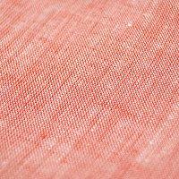 ヘッドルーム(headroom)仏産リネン100%カバーオールシャツリネンシャツスキッパー7分袖レッド:L