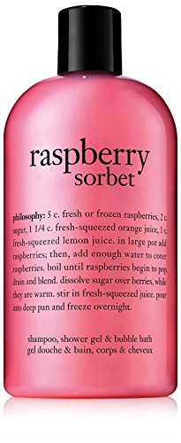 Philosophy Raspberry Sorbet Shampoo/Shower Gel/Bubble Bath, 16 Ounces