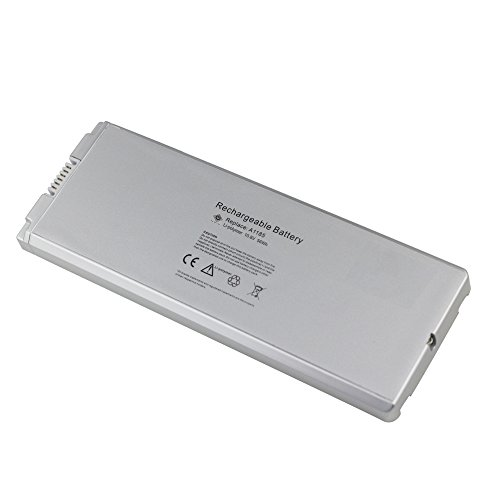 ATC 6 Cells 5600mAh/5.6Ah High Capacity Battery Replace for Apple MacBook 13 Inch A-1185 MA-561 Battery white