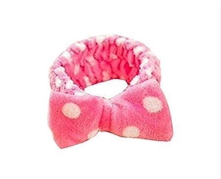 Worsendy Damen M/ädchen S/ü/ßer Bogen Krawatte Flexible Stirnb/änder Haarschmuck Headwrap f/ür Yoga Wash Make-up Maske Coral Samt 1 St/ück Gelb