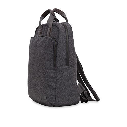 KNOMO Brompton James Tote Backpack Felt 15-Inch, Ash Grey