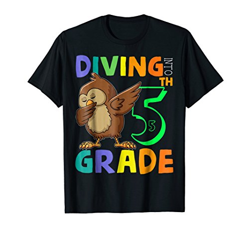 Team 5th Grade Owl Dabbing Back To School Shirt For Kid (5th Grade Owl)