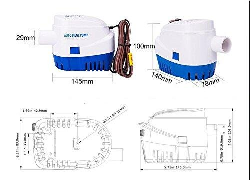 MAXZONE Automatic Submersible Boat Bilge Water Pump 12v 1100gph Auto with Float Switch by MAXZONE (Image #6)