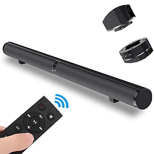 GSPOR Barra de Sonido, Altavoz de Sonido Envolvente para Cine en casa con Cable e inalámbrico, TV, Bluetooth 4.2 Soporte...