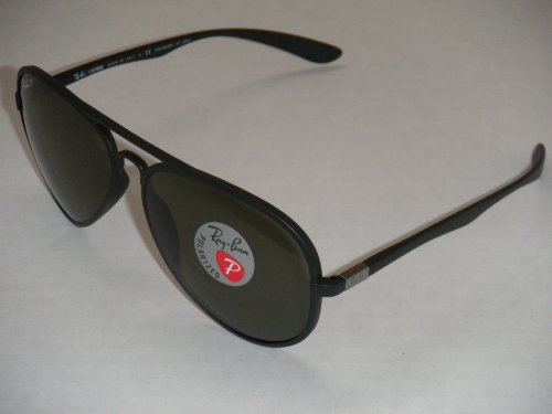 84f8c50626a RAY BAN 4180 AVIATOR LITEFORCE RB4180 601S 9A 58MM MATTE BLACK  GREEN  POLARIZED