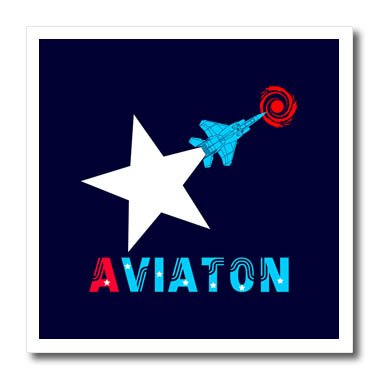 Amazon com: 3dRose Alexis Design - Aviation - White star
