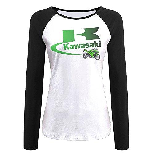 QCNEY Women's Kawasaki Logo Long Sleeve Baseball T Shirt Jersey Shirt