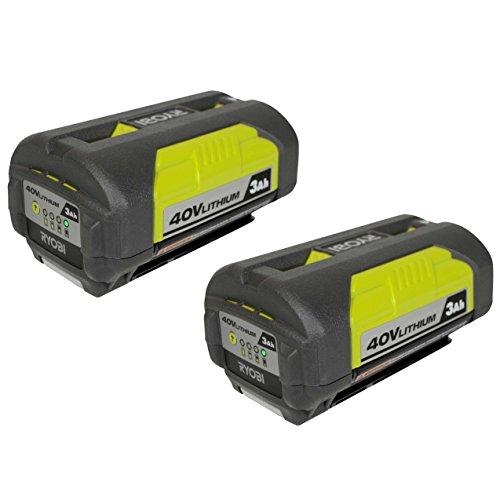 - Ryobi OP4030 40V 3.0Ah Lithium ion Battery w/ Fuel Gauge - 2 Pack