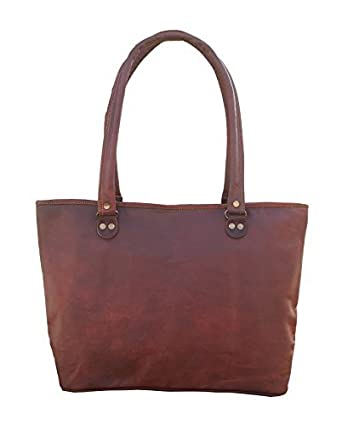 137510bc3dbf Amazon.com  Maison De Cuir Women Handbags Vintage Tote Bags Shoulder  Handmade Leather Bags  Clothing