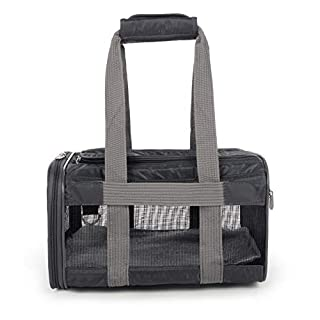 Sherpa Travel Original Deluxe Airline Approved Pet Carrier, Charcoal, Small (Frustration Free Packaging)