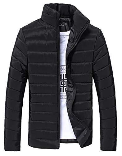 Puffer Fashion Black Stand Lightweight Packable Quilted Down Coat Jacket Collar TTYLLMAO Mens 1Ww65ctBqz