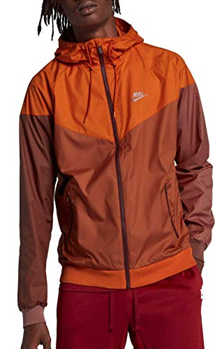 Nike Men's Windrunner Full Zip Jacket (Cmpfre Ornge/Dk Russet/Small) by Nike (Image #2)