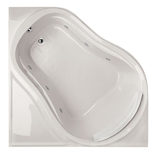 Acrylic Eclipse Tub (Hydro Systems ECL6464AWP-WHI-WOV.WHI Eclipse Acrylic Tub with Whirlpool System (Drain Included), White)
