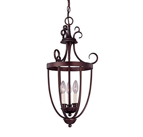English Finish Bronze (Savoy House 3P-80200-3-13 Pendant with No Shades, English Bronze Finish)
