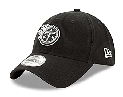 "Tennessee Titans New Era NFL 9Twenty ""Twill Core Classic"" Adjustable Black Hat from New Era"