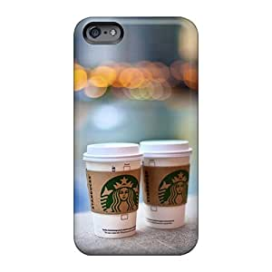 Shock-Absorbing Hard Cell-phone Cases For Apple Iphone 6 Plus With Unique Design Beautiful Starbucks Pattern LeoSwiech