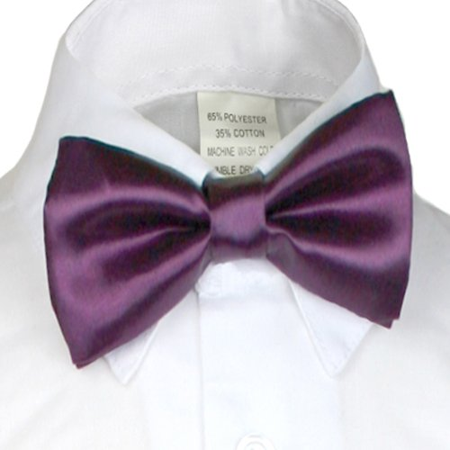Unotux Boys Satin Bow tie from Baby to Teen (Breasted Bow Tie)