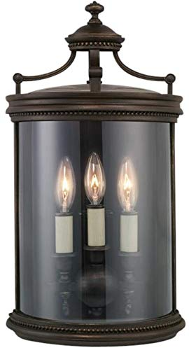 EuroLuxHome Coupe Sconce LOUVRE 3-Light Antiqued Bronze Gold Hand-Blown Glass New B-1