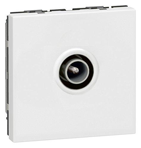 Legrand LEG78782 Prise TV programme mosa/ïque Diam/ètre 9,52 mm m/âle 2 modules Blanc