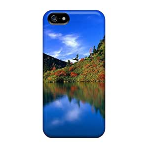 Iphone 5/5s Case Cover - Slim Fit Tpu Protector Shock Absorbent Case (reflective Blue)