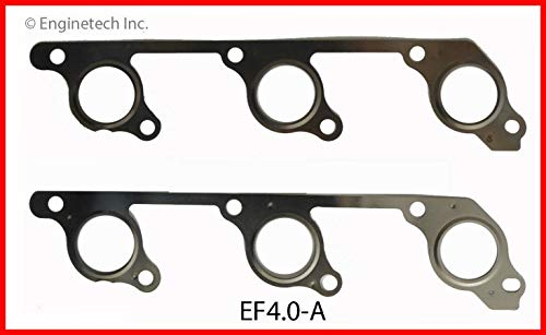 ENGINETECH EF4.0-A Exhaust Manifold Gasket Compatible with 1997-2011 Ford Land Rover 244 4.0L SOHC V6 12-Valve (CAR & Truck Engines) ()