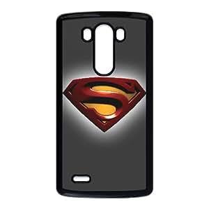 Superman Logo Funda LG G3 Funda caja del teléfono celular Negro M1S7WF3H Funda cajas del teléfono celular Claro genéricos