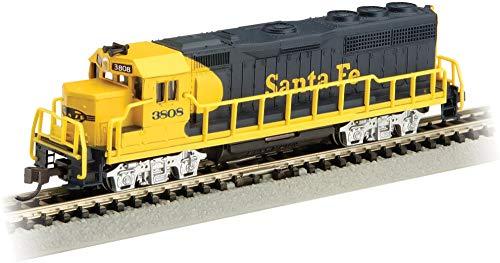 (EMD GP40 Diesel Locomotive Santa FE #3808 (Blue & Yellow) (with Dynamic Brakes) - N Scale )
