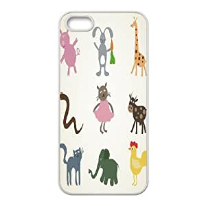 Animal Cartoon Customized Case for Iphone 5,5S, New Printed Animal Cartoon Case by ruishername