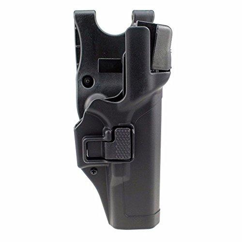 JINJULI Tactical Level 3 Lock Right Hand Waist Belt Pistol Holster for Glock 17 19 22 23 31(Black) ()