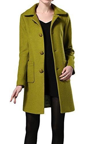 PLAER - Abrigo - chaqueta - para mujer Green mango