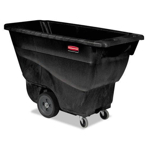 (Rubbermaid Commercial Structural Foam Tilt Truck, Rectangular, 450 lb. Cap., Black - Includes one each.)