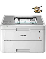 Brother HL L3200 Series Compact Wireless Digital Color Laser Printer - Mobile Printing - Up to 19 Pages/Min - Up to 250-sheet/tray - Up to 2400 x 600 DPI - Mono Display + HDMI Cable