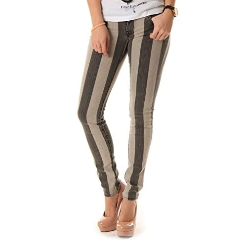 77cec1b4dd durable service Vans Women s Pin Denim Striped Skinny Fit Jeans ...