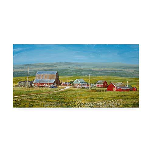 (Trademark Fine Art Cypress Hills Farm by Peter Snyder, 16x32)
